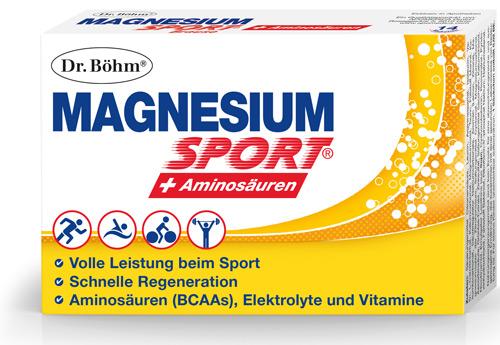 Dr. Böhm® Magnesium Sport® + Aminosäuren (© Apomedica)